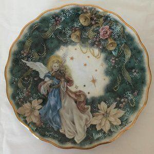 """Lena Liu """"Celebration"""" porcelain angel plate"""
